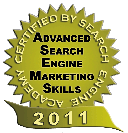 Image of 2011 Advanced Search Engine Marketing Skills Certification Seal