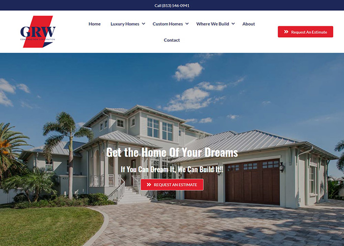 Screenshot of Tampa Bay Custom Home Building Company - Online Marketing Machine™
